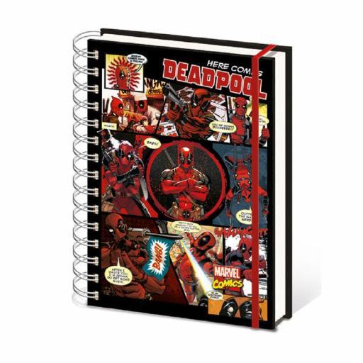 Libreta Deadpool Viñetas