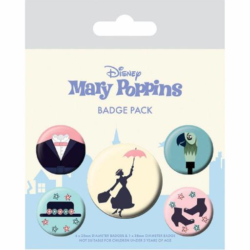 Set Chapas Mary Poppins Variadas