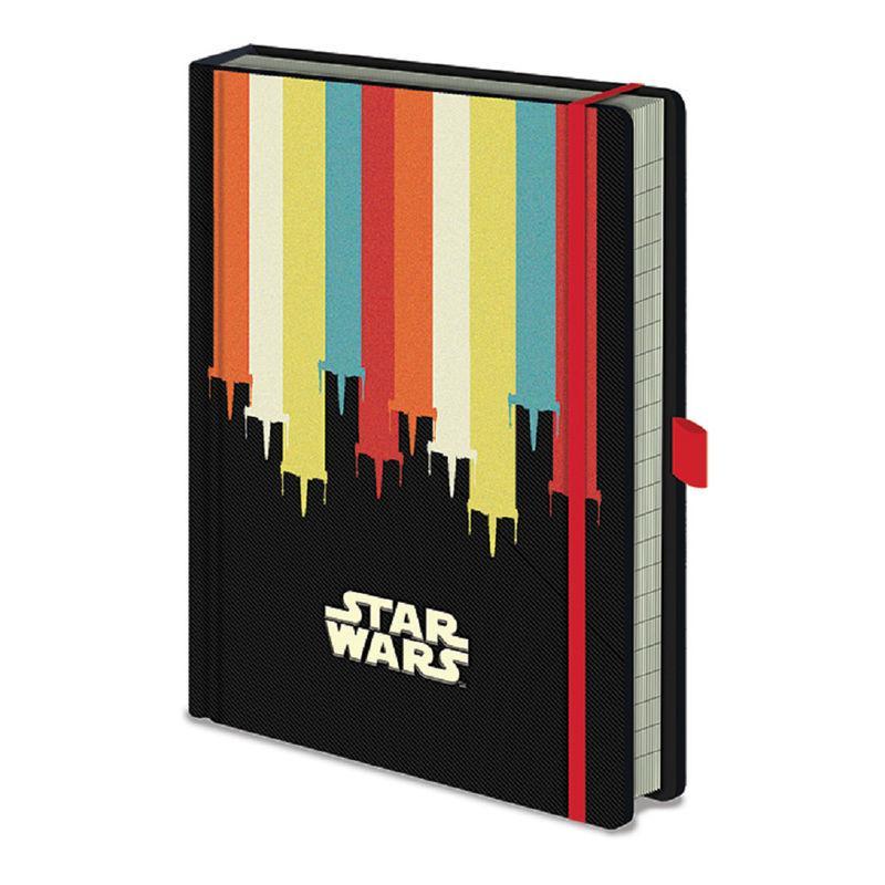 Cuaderno A5 Star Wars X-Wings bandas colores