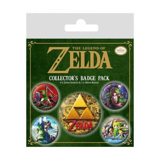 Legend of Zelda Pack 5 Chapas Classics