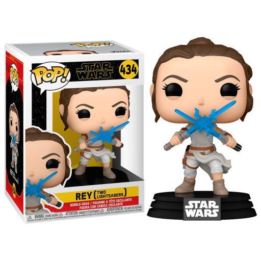 Funko pop 434 Rey con dos sables de la película El ascenso de Skywalker