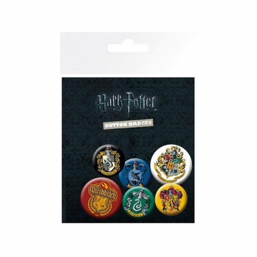 Lote con 6 chapas de Harry Potter