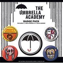 Pack 5 Chapas Umbrella Academy