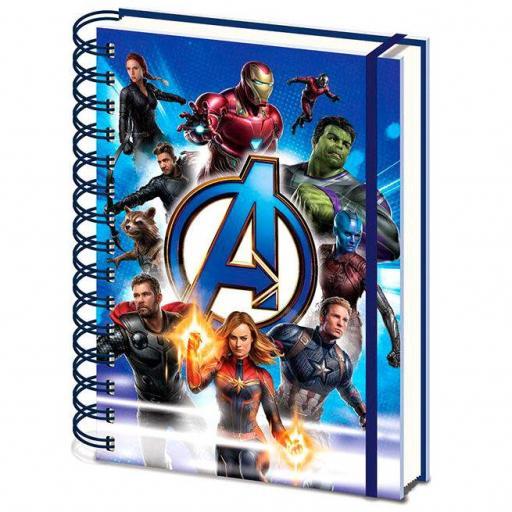 Cuaderno A5 Vengadores Avengers Endgame Marvel