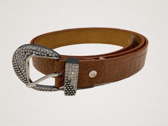 Cinturón Hebilla Brillo
