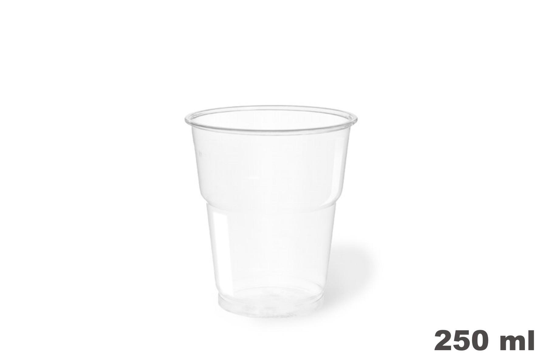 Vasos de plástico PET 250c.c. 1250 uni.