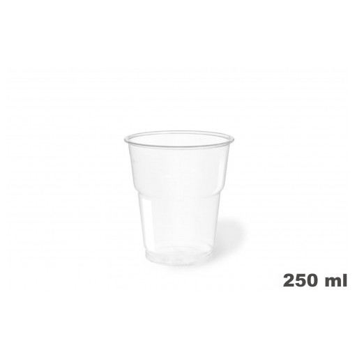 Vasos de plástico PET 250c.c. 1250 uni. [0]