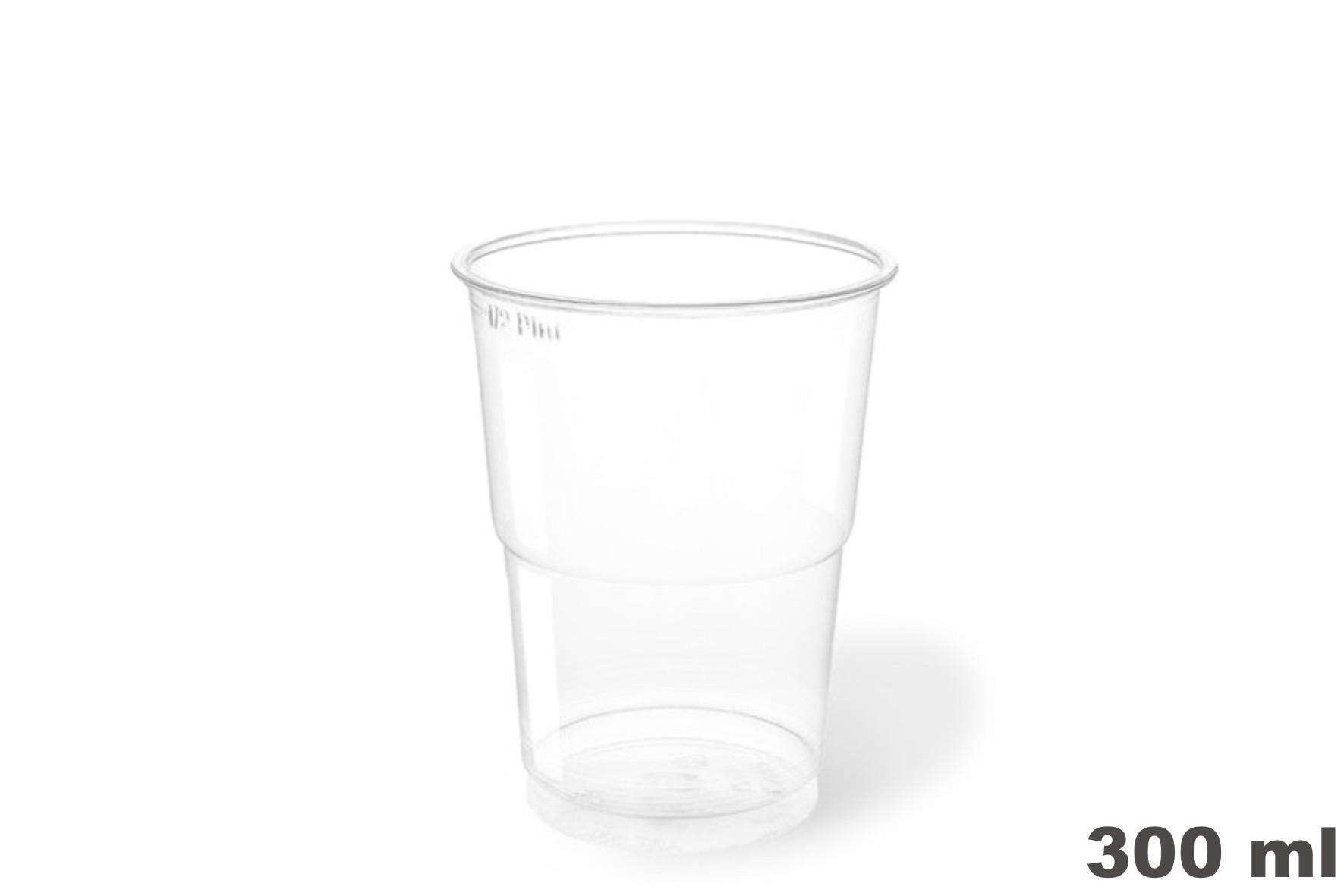 Vasos de plástico PET 300c.c. 1250 uni.
