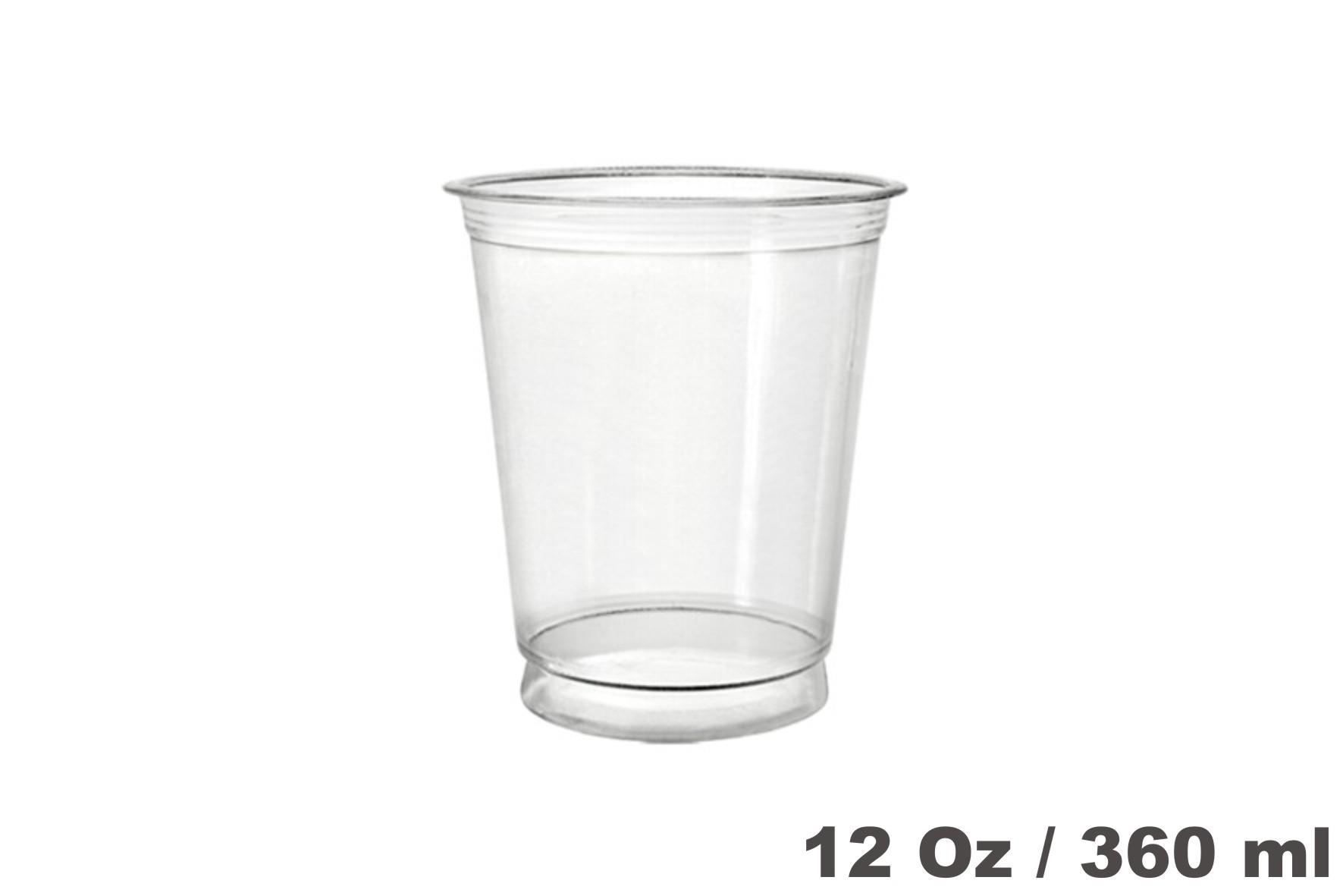 Vasos de plástico PET 12oz 800 unidades