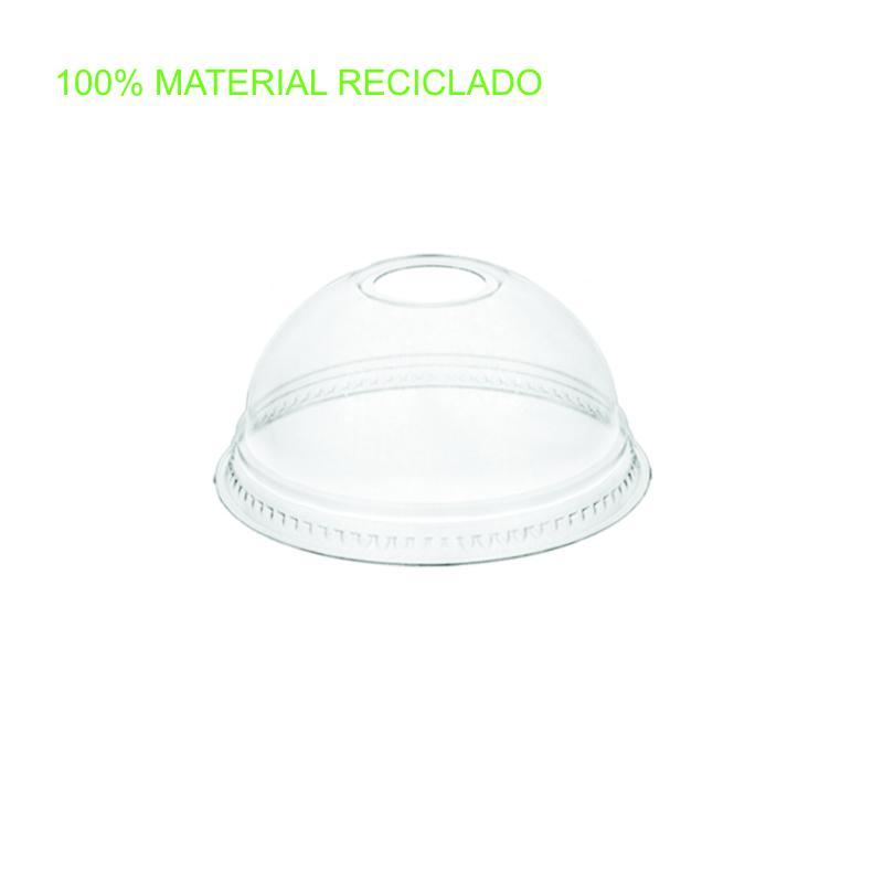Tapa cúpula pet ø95mm 800 uni. con agujero