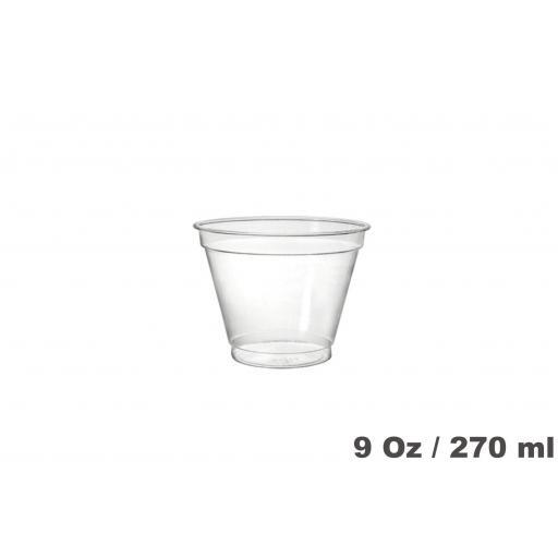 Vasos de plástico PET 9oz 800 unidades