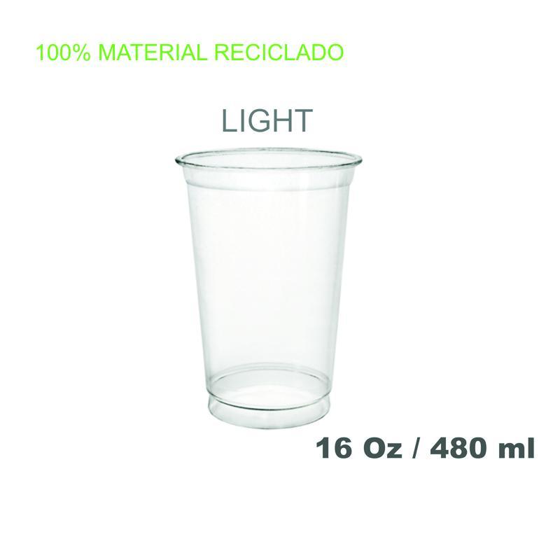 Vasos de plástico PET 16oz 800 unidades