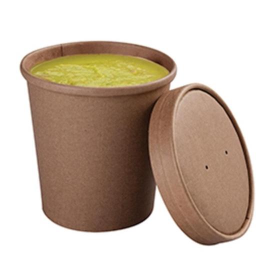 Soup cup 16oz 250 unidades con tapa