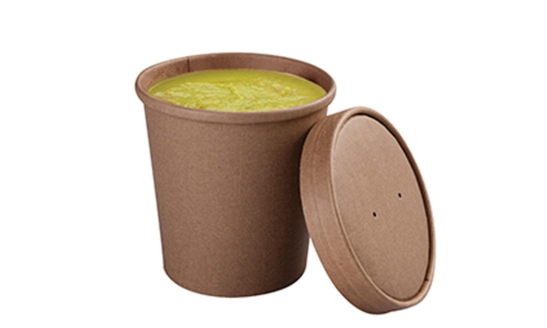 Soup cup 8oz 250 unidades con tapa