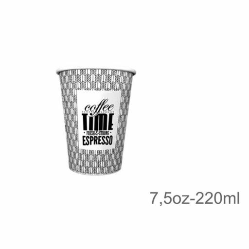 Vasos papel 7,5 oz. 1000 unidades