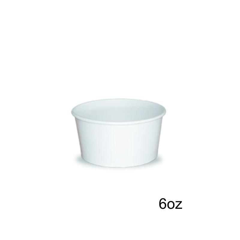 Tarrina helado 6oz 1000 uni. blanca
