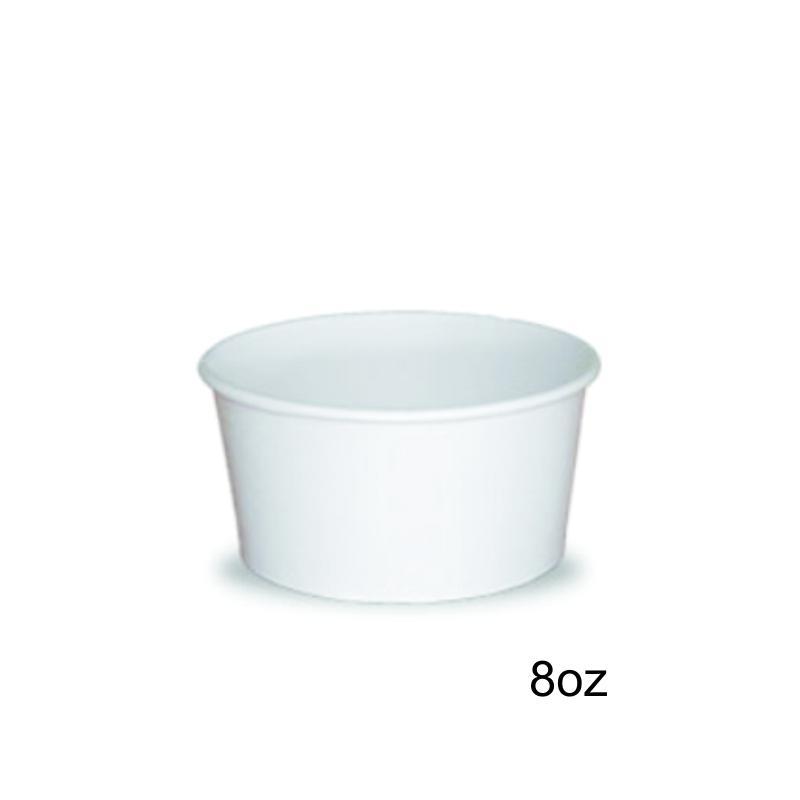 Tarrina helado 8oz 1000 uni. blanca