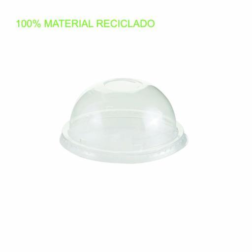 Tapa cúpula pet ø95mm 1200 uni. con cruz