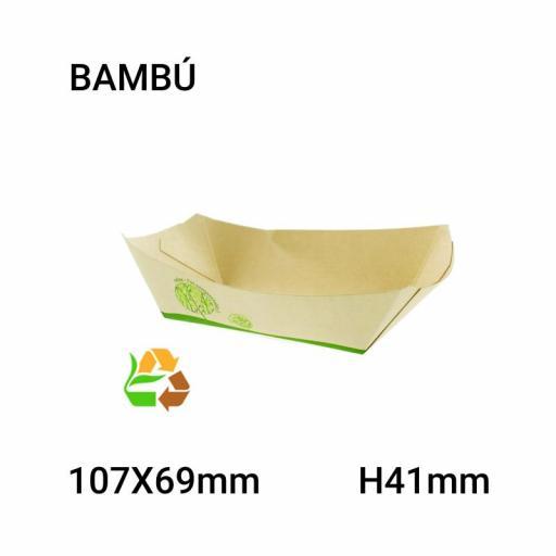 Bandeja bambú 1000 unidades