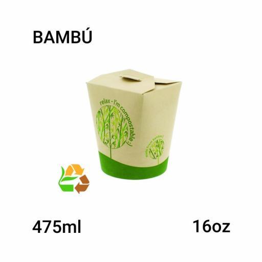 Bowl bambú 16oz 500 unidades