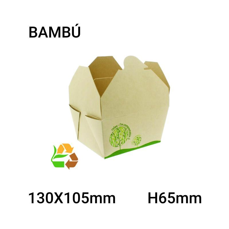 Caja bambú 450 unidades