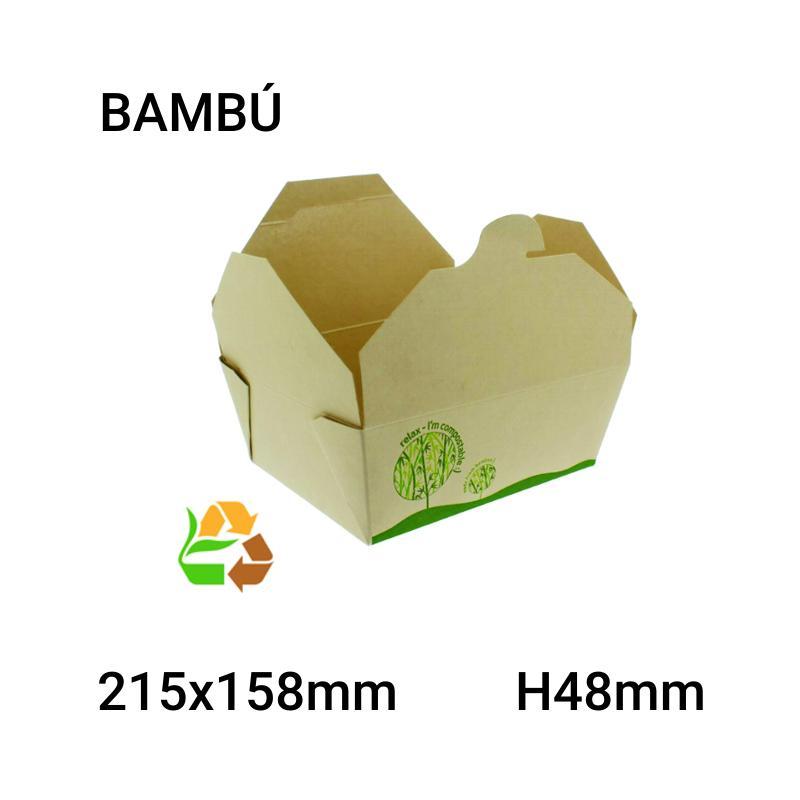 Caja bambú 200 unidades