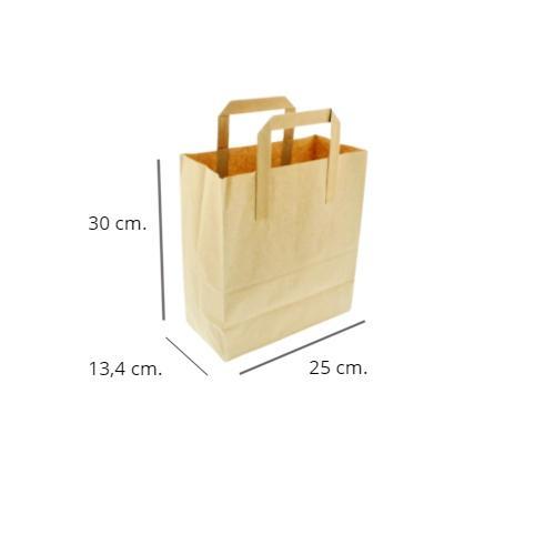 Bolsa papel kraft 250 uds. 30x25x13,4cm.