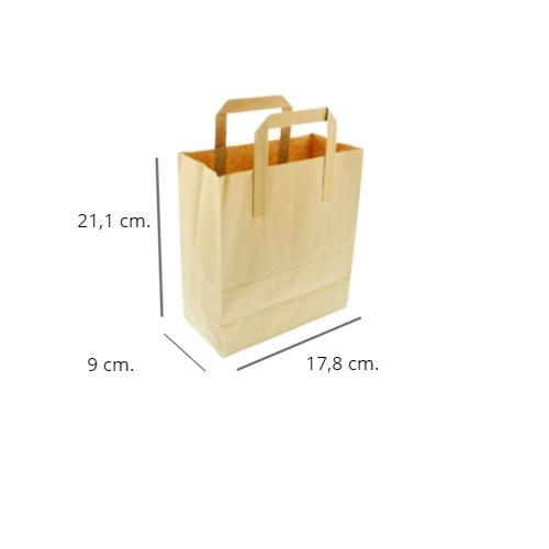 Bolsa papel kraft 250 uds  21,1x17,8x9cm