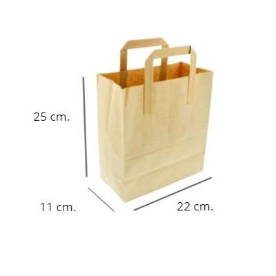 Bolsa papel kraft 250 uds. 25x22x11cm.