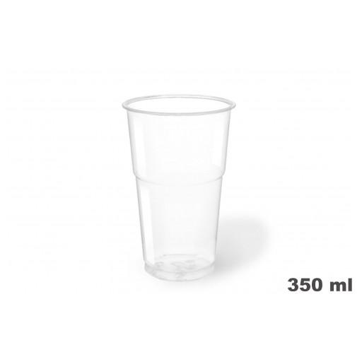 Vasos de plástico PET 350c.c. 1250 uni.