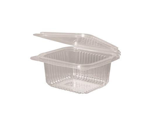 Tarrina Bisagra compostable PLA 500ml 600 uni.