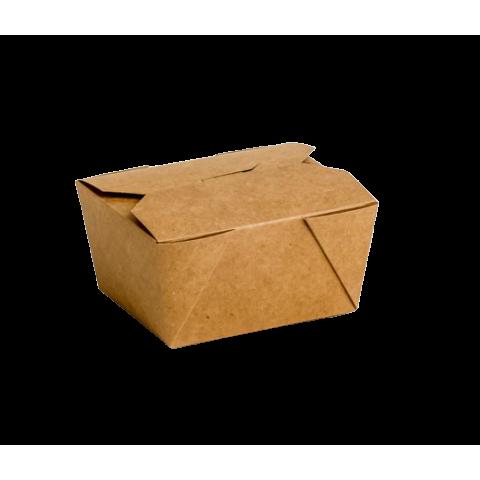 Envase cartón Takeaway Kraft 450 uni. 130x105x65mm