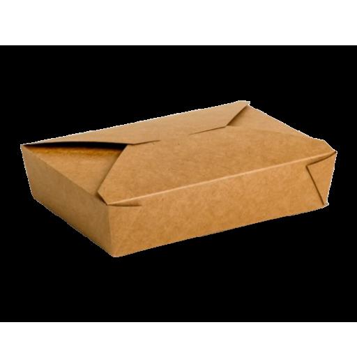 Envase cartón Takeaway Kraft 200 uni. 210x150x48mm