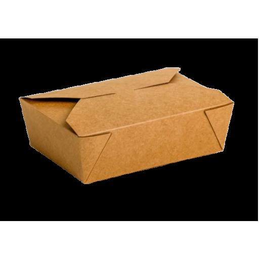 Envase cartón Takeaway Kraft 200 uni. 210x150x65mm