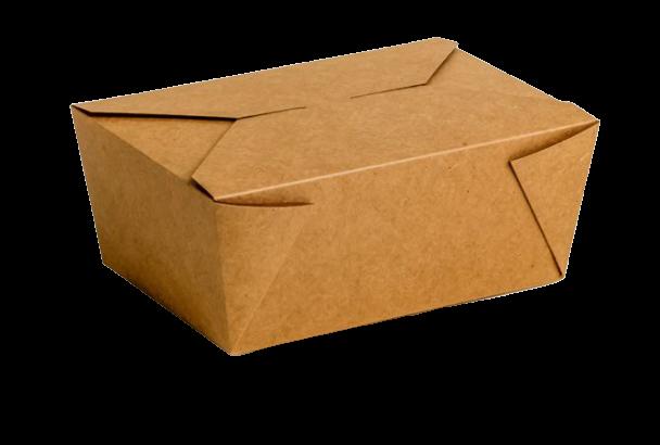 Envase cartón Takeaway Kraft 160 uni. 220x160x90mm