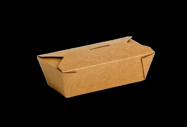 Envase cartón Takeaway Kraft 675 uni. 185x90x55mm