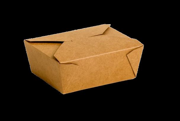 Envase cartón Takeaway Kraft 300 uni. 170x140x65mm
