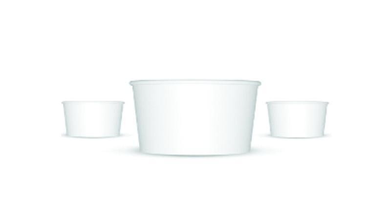 Tarrina helado 4oz 1000 uni. blanca