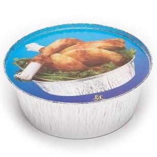 Tapa envase aluminio 1900ml. 500 uni.