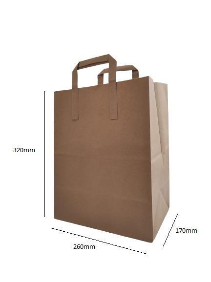 Bolsa papel kraft 250 uds. 26x17x32cm