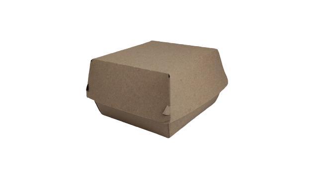 Caja hamburguesa kraft grande 500 uni.