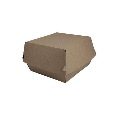 Caja hamburguesa kraft pequeña 500 uni.