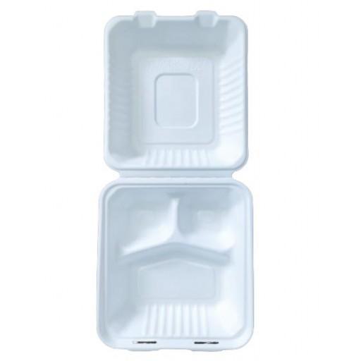 Envase caña de azúcar compartimentos 200 uni.