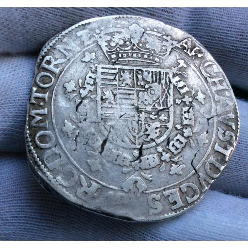 PATAGON DE ALBERTO E ISABEL - 1598-1621 - CECA DE TOURNAI - IMPERIO ESPAÑOL HOLANDÉS  [1]