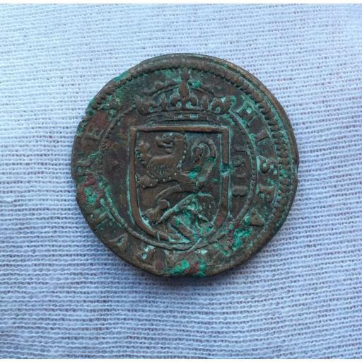 8 MARAVEDIS 1618 - FELIPE III - ACUÑADOS EN EL REAL INGENIO DE SEGOVIA (ACUEDUCTO DE 4 ARCOS)