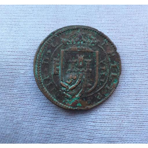 8 MARAVEDIS 1618 - FELIPE III - ACUÑADOS EN EL REAL INGENIO DE SEGOVIA (ACUEDUCTO DE 4 ARCOS) [1]