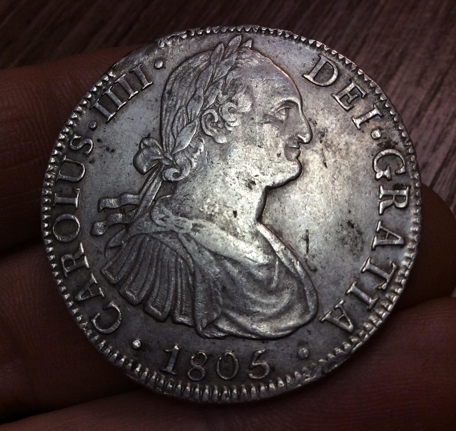 EXCELENTES 8 REALES CARLOS IV - ACUÑADOS EN 1806 EN MÉXICO TH