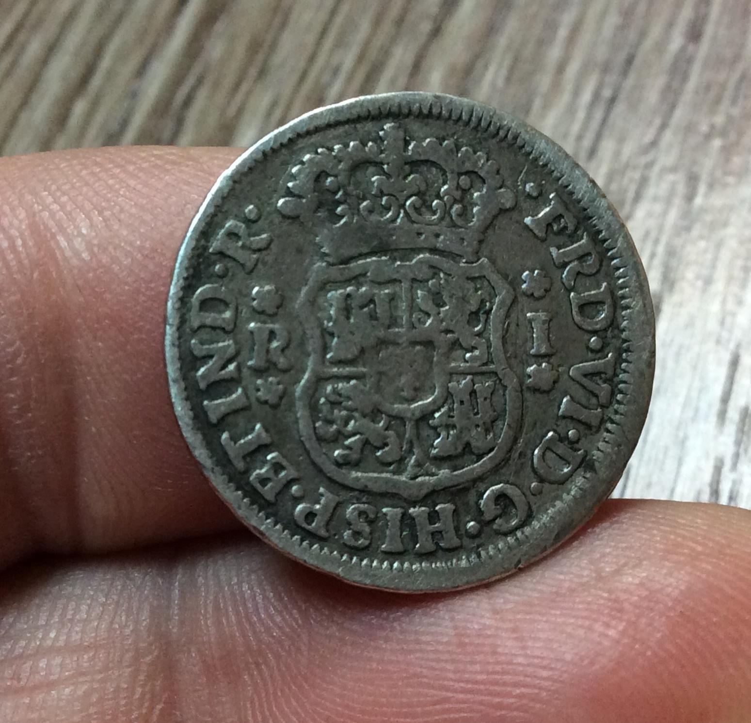 COLUMNARIO DE 1 REAL 1755 - FERNANDO VI - MEXICO