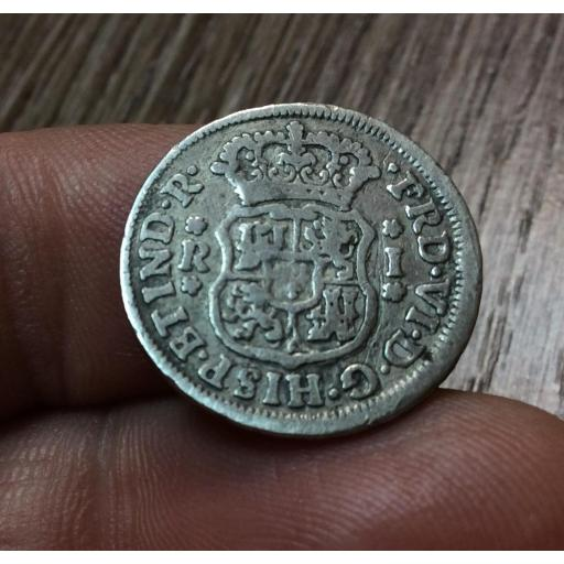 COLUMNARIO DE 1 REAL 1755 - FERNANDO VI - MEXICO [3]