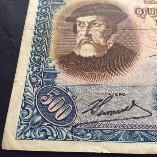 500 PESETAS 7 ENERO 1935 - II REPUBLICA - HERNÁN CORTÉS - ESCASO  [3]